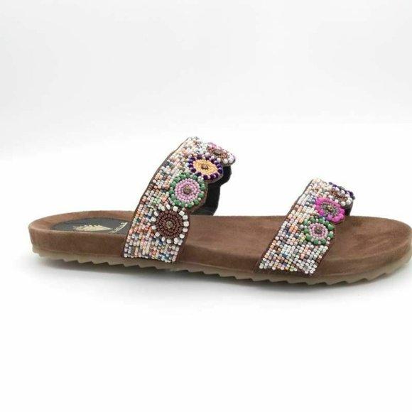 VOLATILE Myriad Slide Sandals Multicolor 7 New